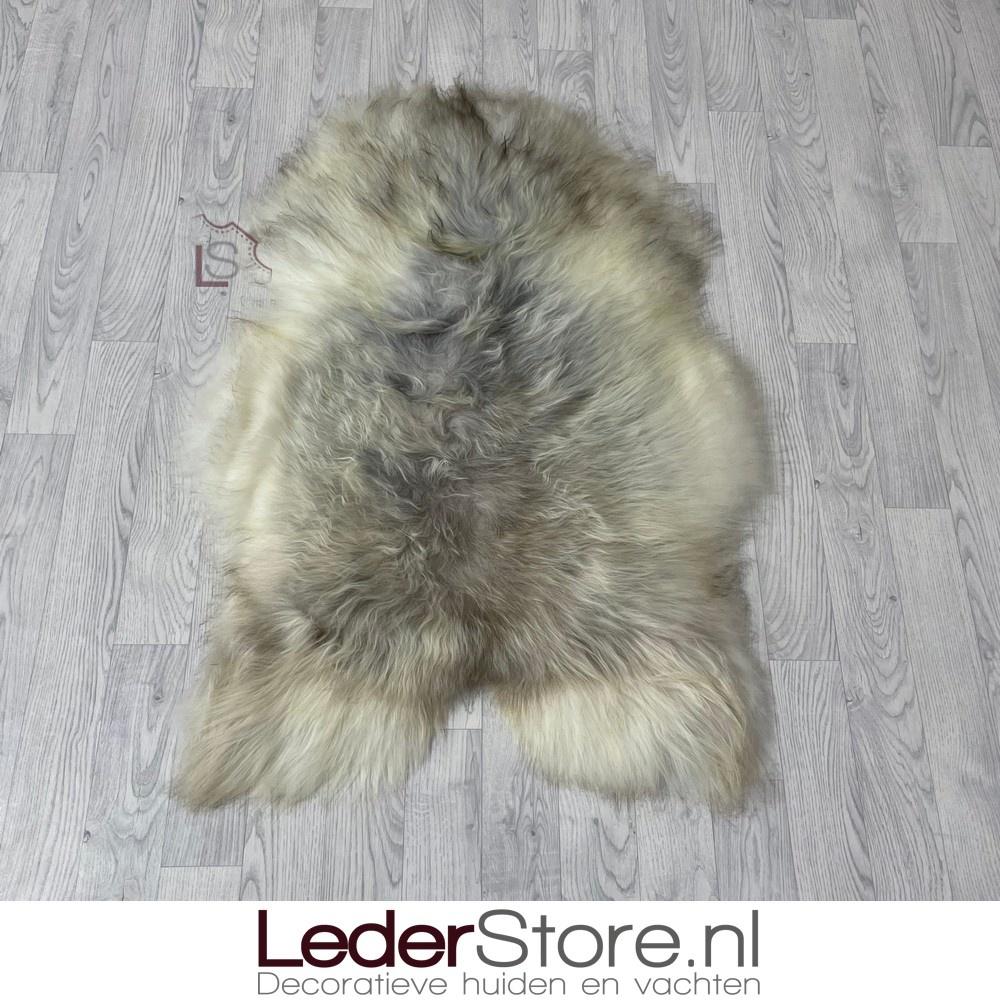 IJslander schapenvacht grijs bruin creme 115x75cm L