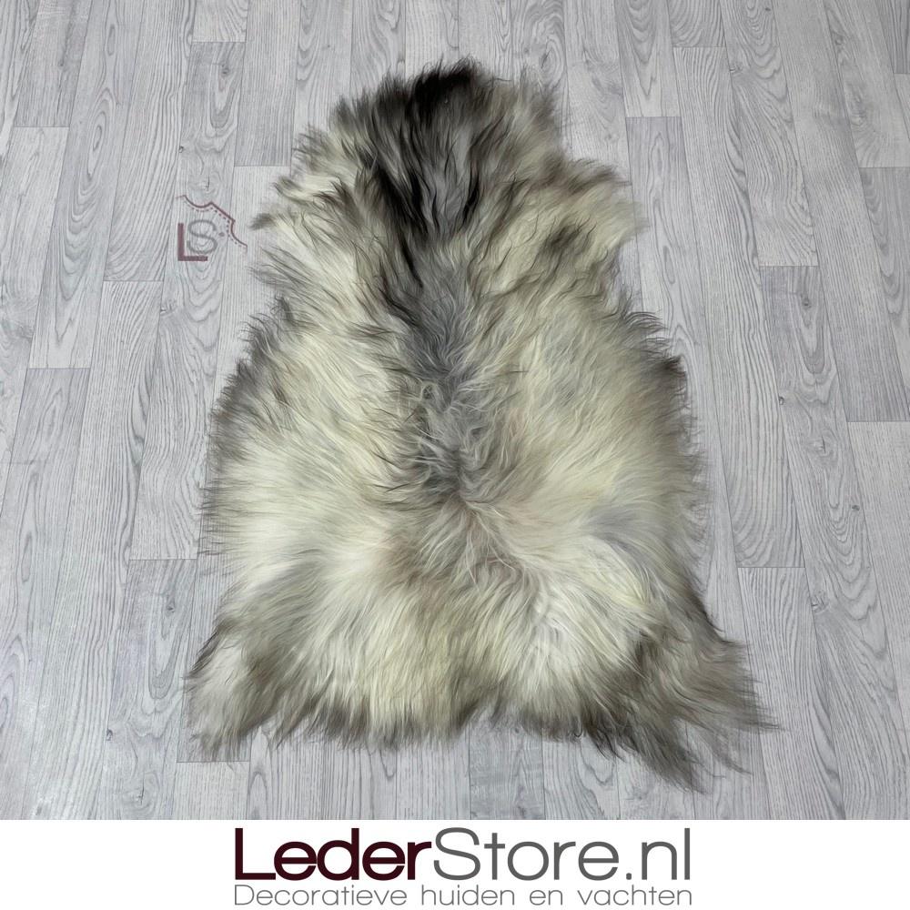 Icelandic sheepskin grey brown creme black 115x70cm L