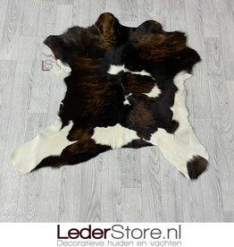 Kalfshuid bruin zwart wit 100x100cm
