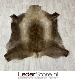 Reindeer hide brown white 130x125cm