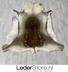 Rendierhuid bruin wit 150x135cm