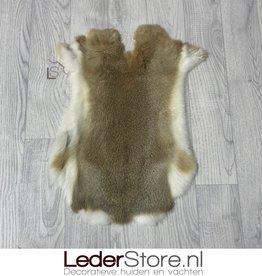 Rabbit skin grey brown white 50x35cm