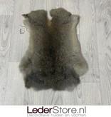 Konijnenvacht bruin grijs 45x35cm