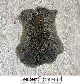 Rabbit skin brown grey 50x35cm