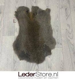 Konijnenvacht bruin grijs 50x35cm