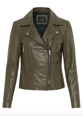 Y.A.S Yassophie color leather jacket, 26011906
