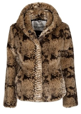 Giacomo Fake Fur Snake Jacket short