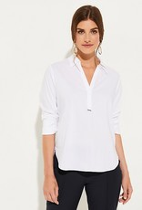 Comma Business blouse with a V-neckline 81.910.11.2321