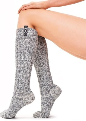 SOXS SOXS  Woman knee-high grey/ jet black