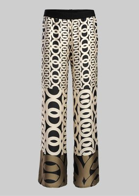 Summum Trousers wide border print 4s1940-11106C1