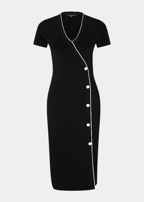 Comma Ribbed dress 81.002.82.5462