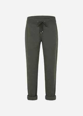 Juvia Fleece trousers turn-up 830 11 068 dark olive