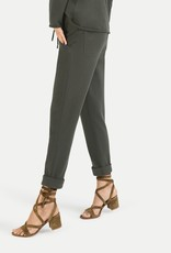 Juvia Fleece trousers turn-up 830 11 068 dark olive