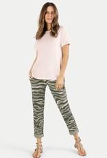 Juvia Co slub shirt pleat cb blushed pink 810 11 108
