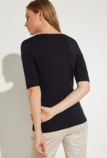 Comma T-shirt v-neck overslag 81.003.32.3676