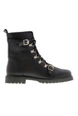 Tango Bee 171 black leather biker boot small straps