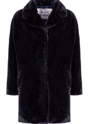 Giacomo Fake fur mantel zwart, 6613850