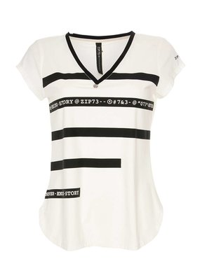Zip73 Top stripe print H916/10/01