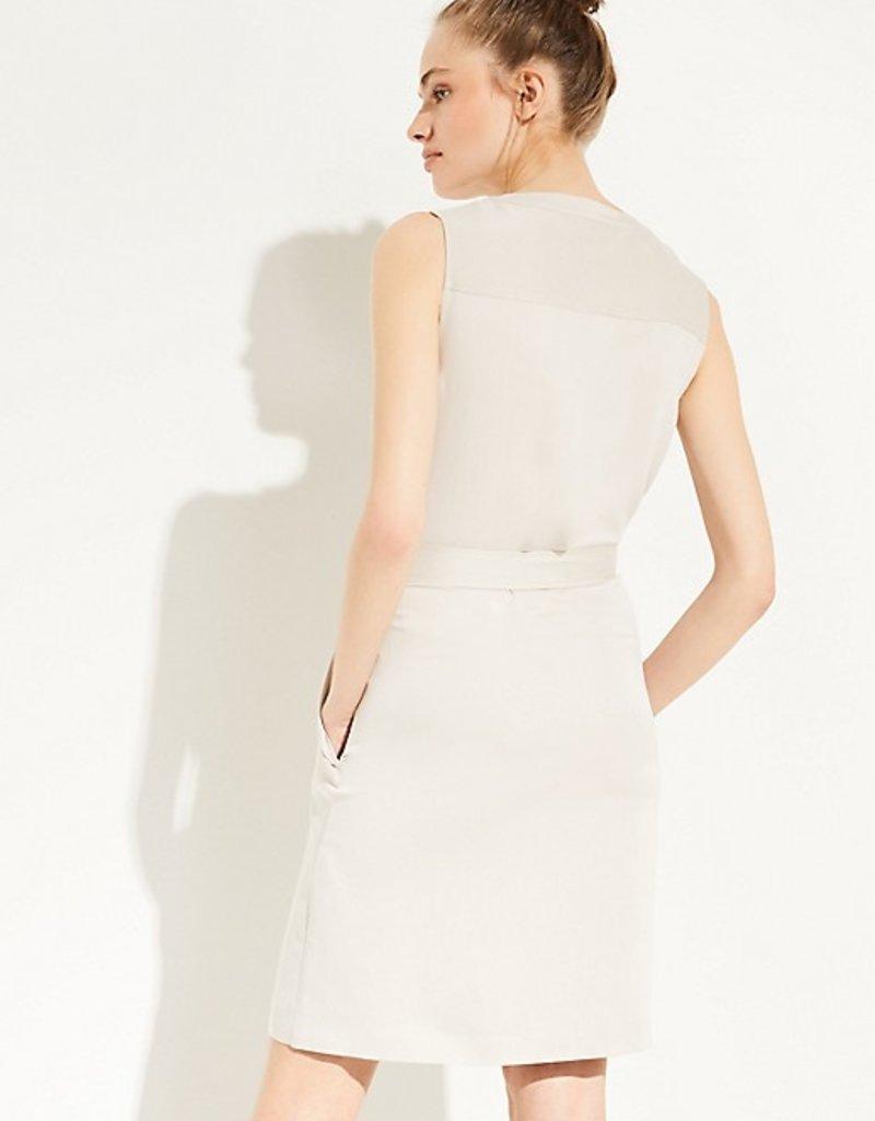Comma Mouwloze doorknoop jurk, 8E.095.82.5631