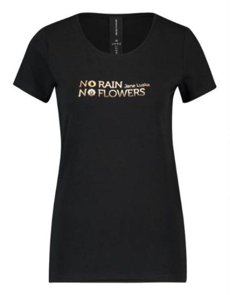Jane Lushka T shirt print goud P620AW02 S Black