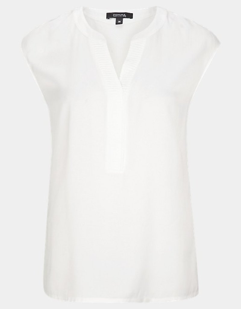 Comma Blouse mouwloos ribje v-hals 81.008.12.6595