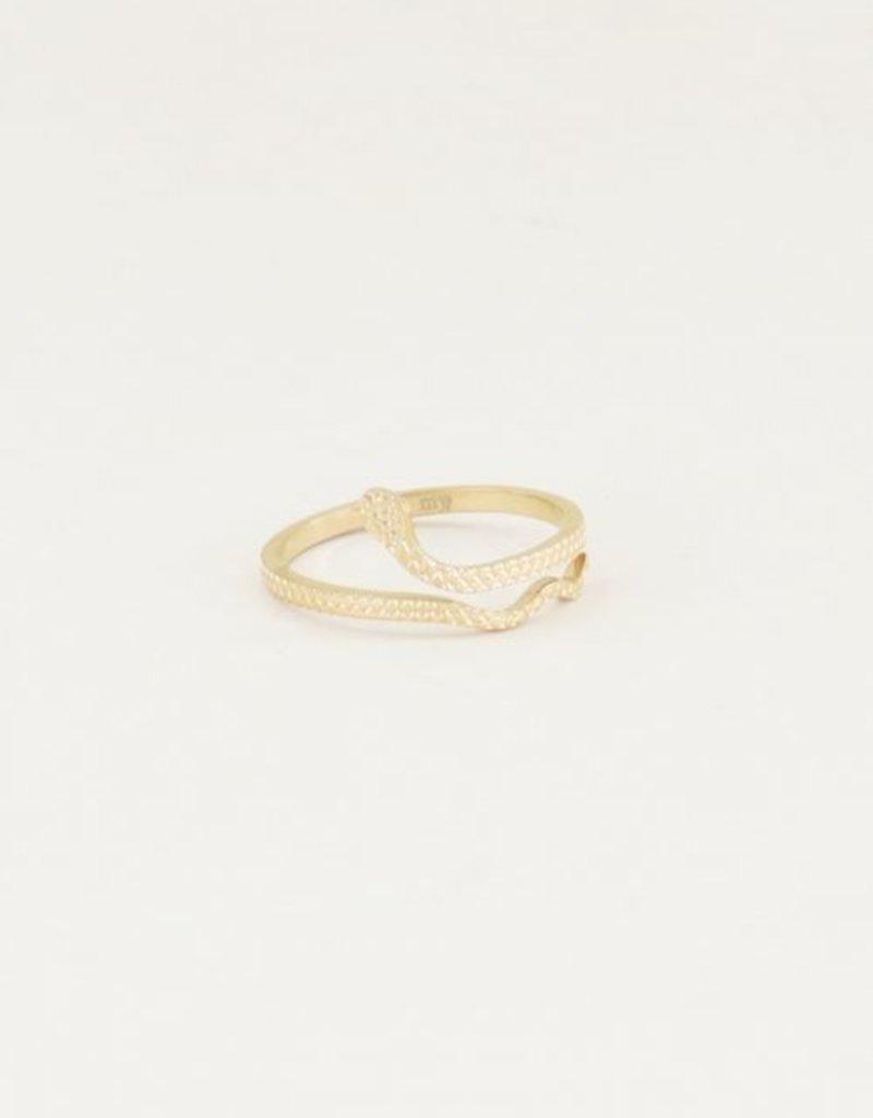 My Jewellery Ring slangetje Goud ONESIZE