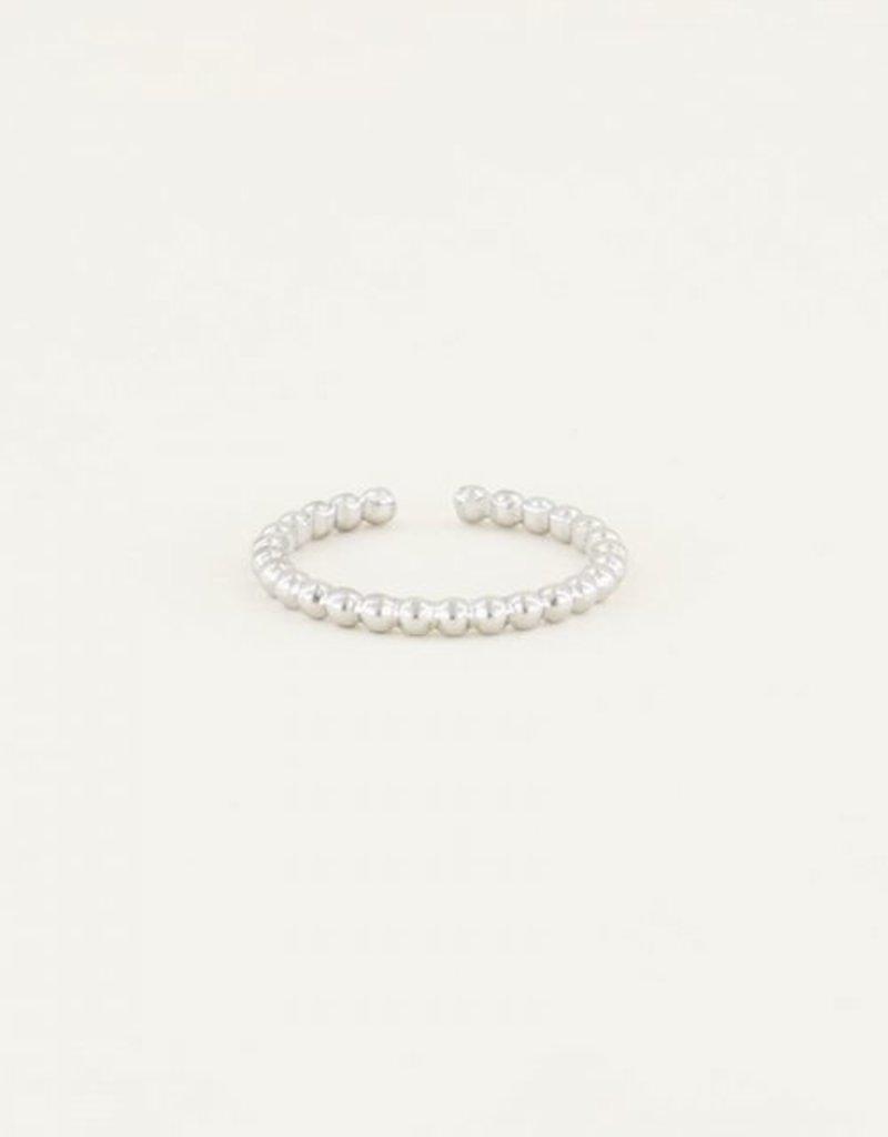My Jewellery Ring met bolletjes Zilver ONESIZE