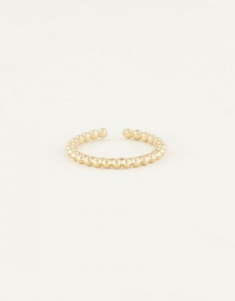My Jewellery Ring met bolletjes Goud ONESIZE