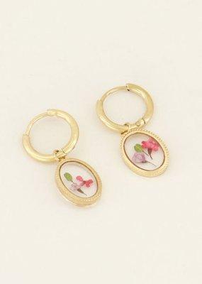 My Jewellery Oorringen wildflower ovaal Goud ONESIZE
