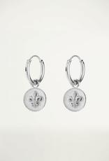 My Jewellery Oorringen Rond Fleur De Lis Zilver ONESIZE