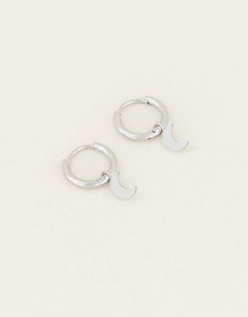 My Jewellery Oorringen met maantje Zilver ONESIZE