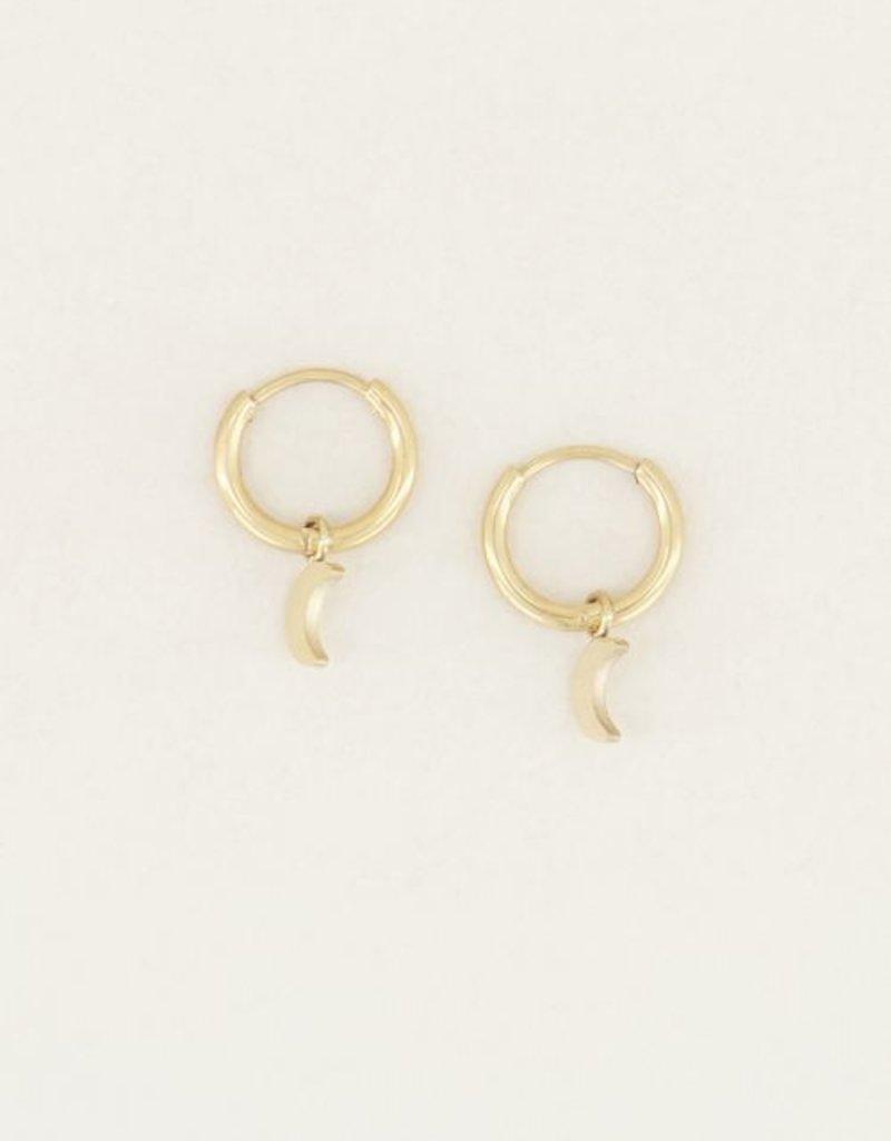 My Jewellery Oorringen met maantje Goud ONESIZE