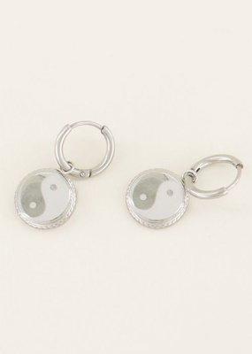 My Jewellery Oorbellen yin & yang Zilver ONESIZE