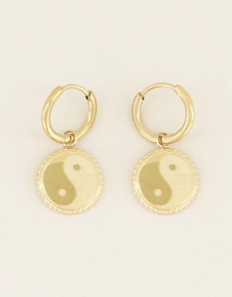 My Jewellery Oorbellen yin & yang Goud ONESIZE