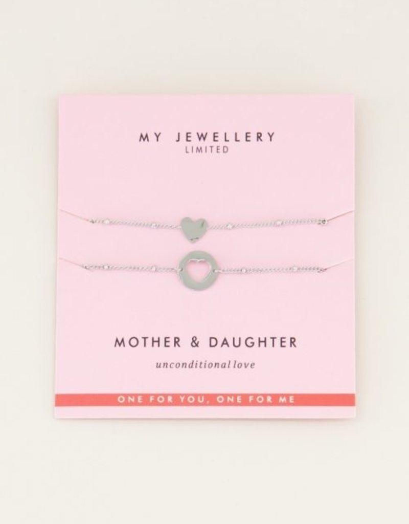 My Jewellery Mother & Daughter Bracelet Zilver ONESIZE