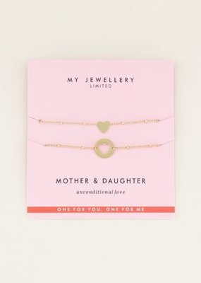 My Jewellery Mother & Daughter Bracelet Goud ONESIZE