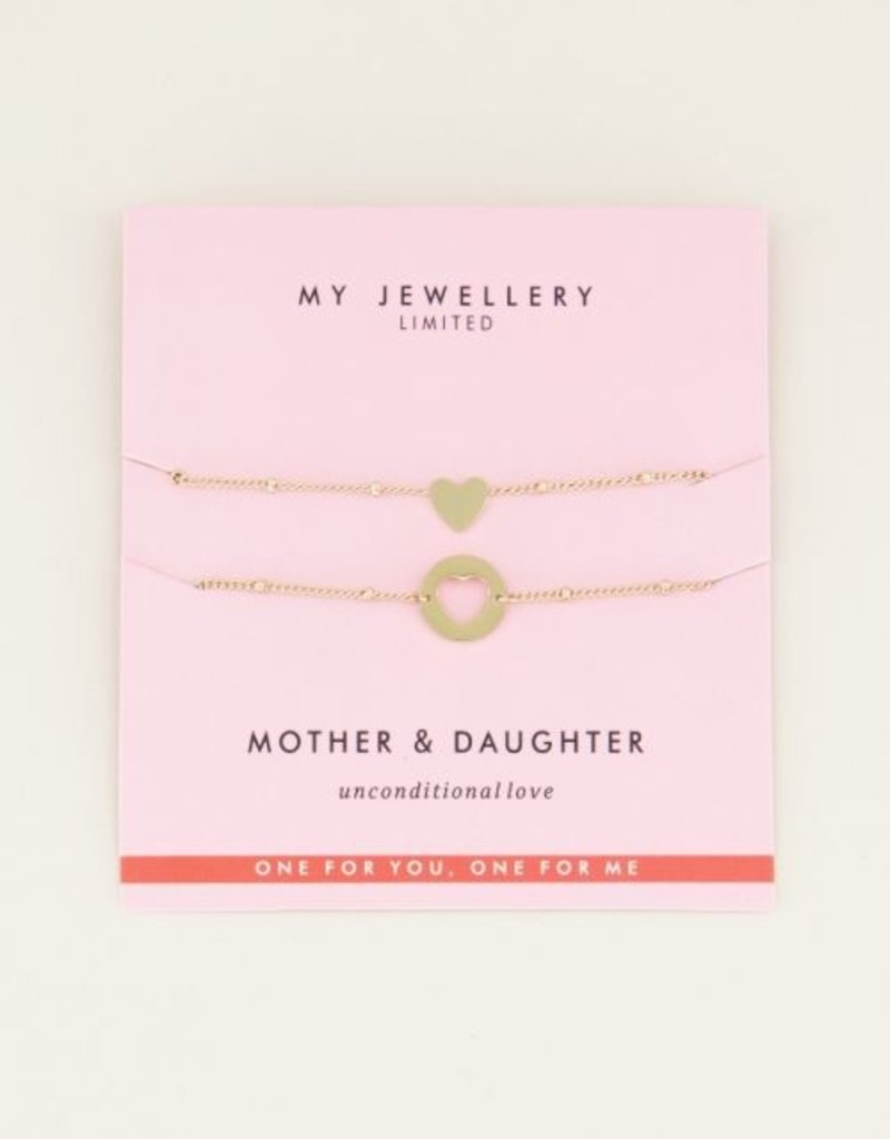 My Jewellery Mother & Daughter Bracelet Goud ONESIZE