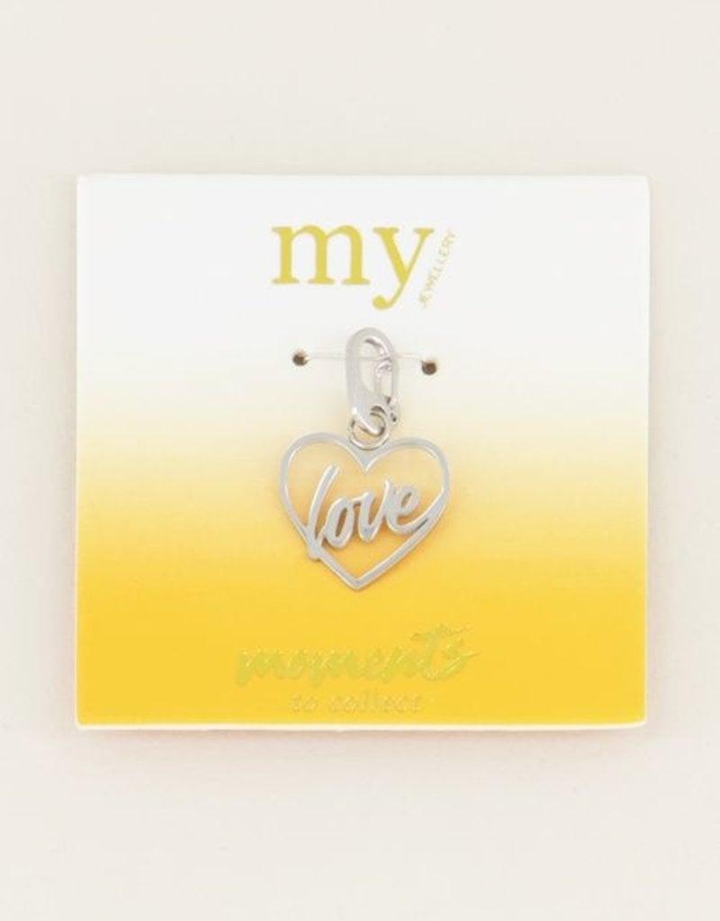 My Jewellery Moments charm love Zilver ONESIZE