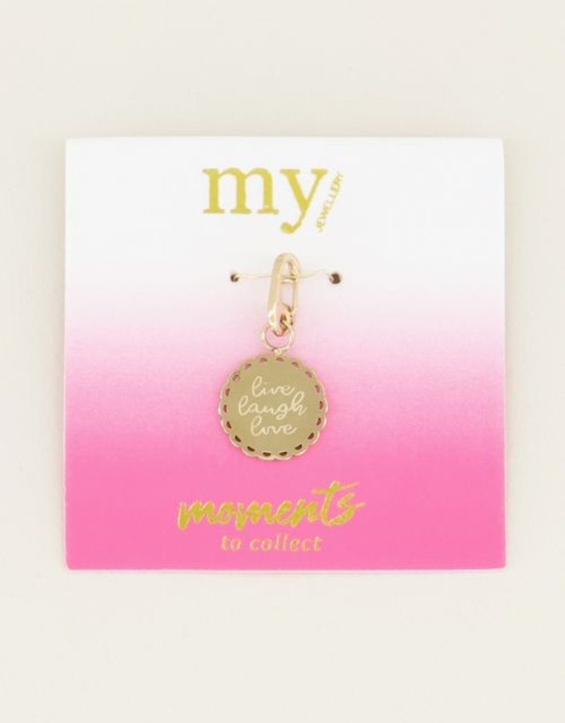 My Jewellery Moments charm live laugh love Goud ONESIZE