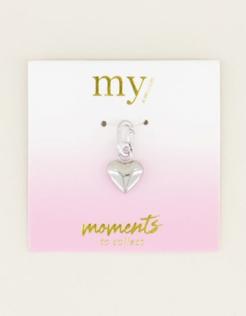 My Jewellery Moments charm heart Zilver ONESIZE