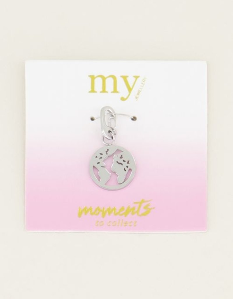 My Jewellery Moments charm globe Zilver ONESIZE