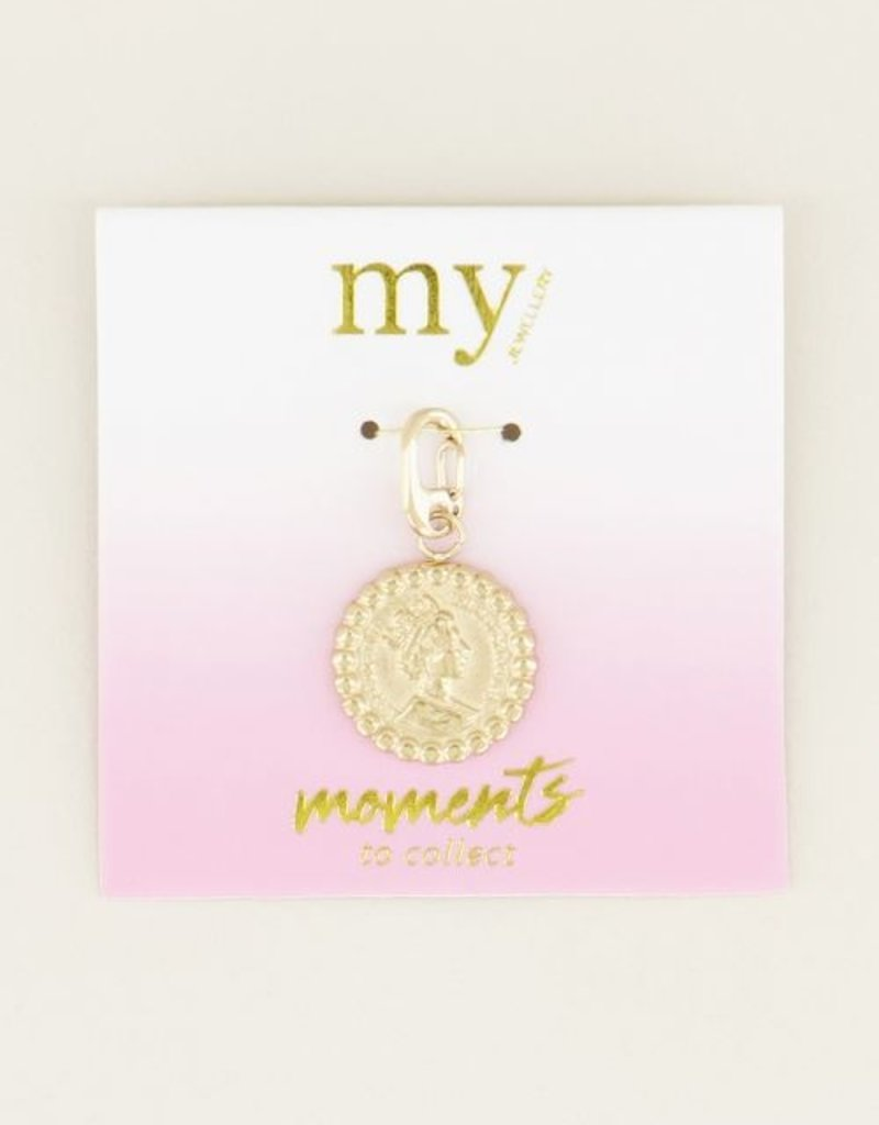 My Jewellery Moments charm coin Goud ONESIZE