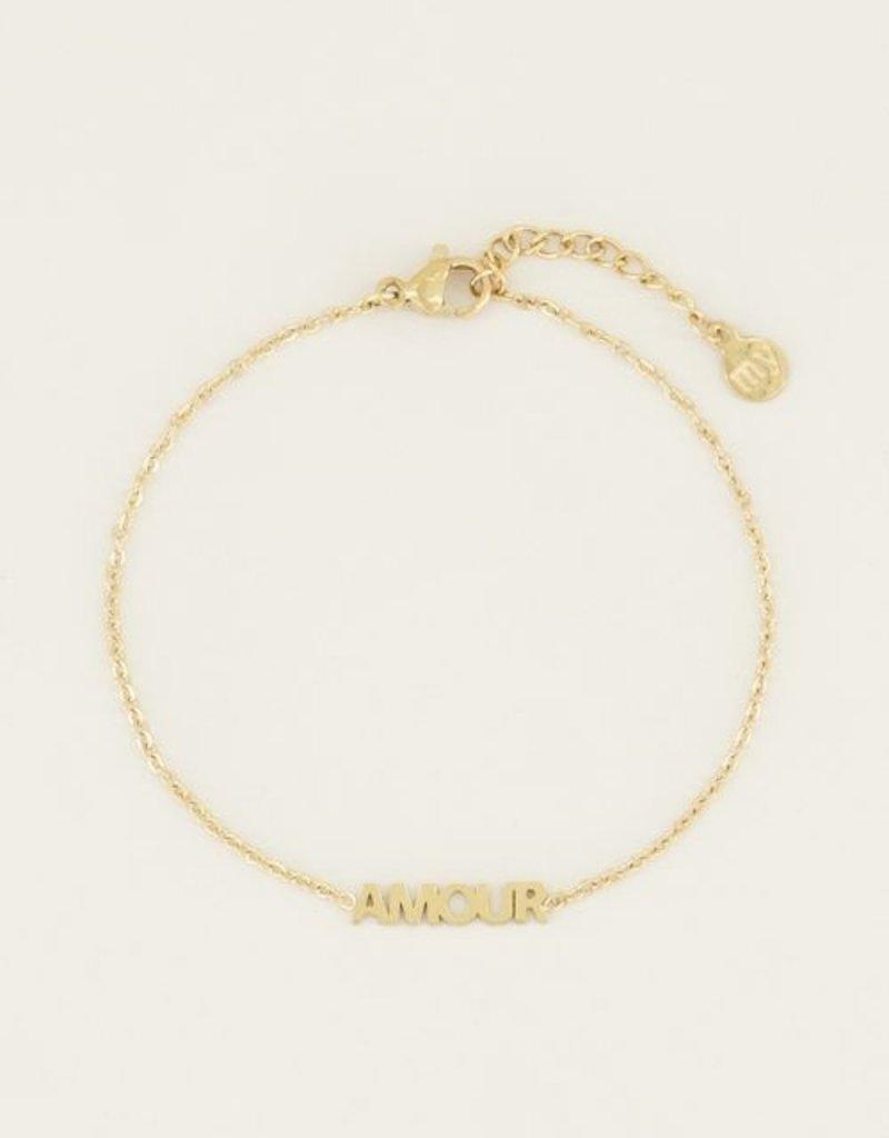 My Jewellery Moments bracelet amour Goud ONESIZE