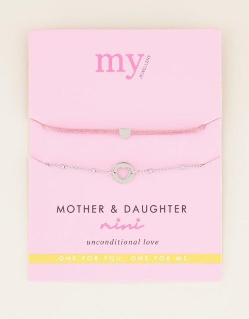 My Jewellery Moeder & dochter armband mini Zilver ONESIZE