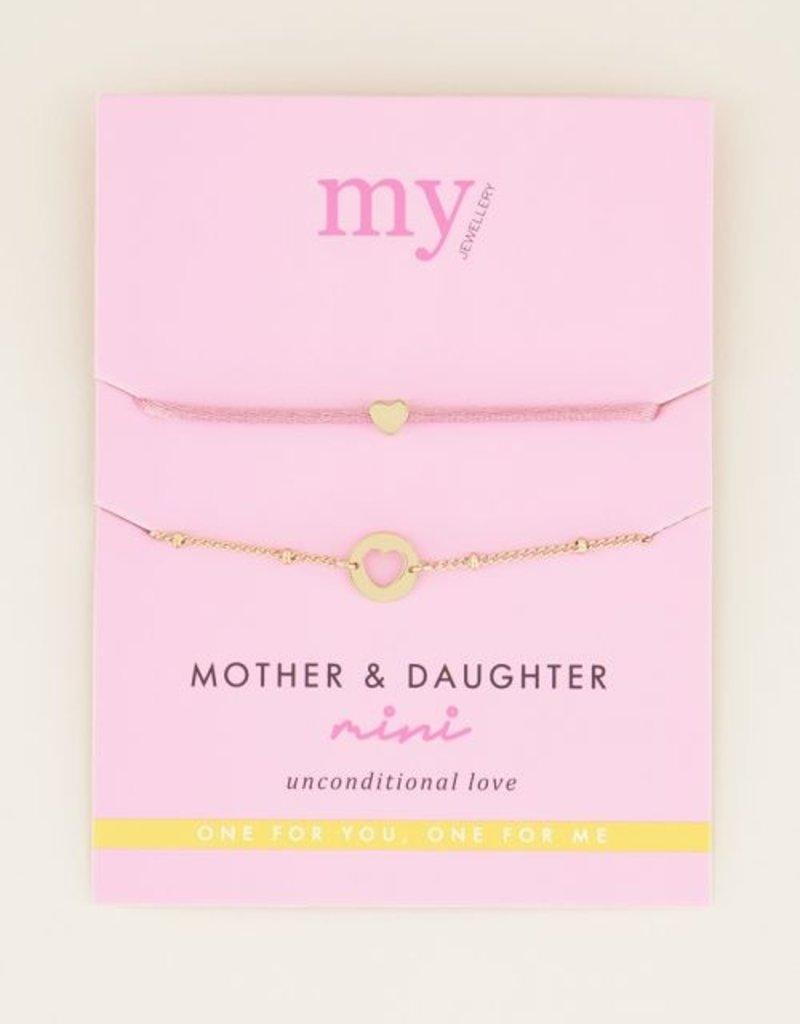 My Jewellery Moeder & dochter armband mini Goud ONESIZE