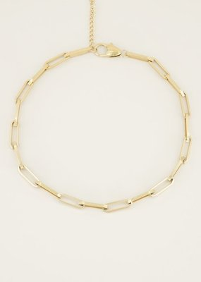 My Jewellery Ketting schakels kort Goud ONESIZE