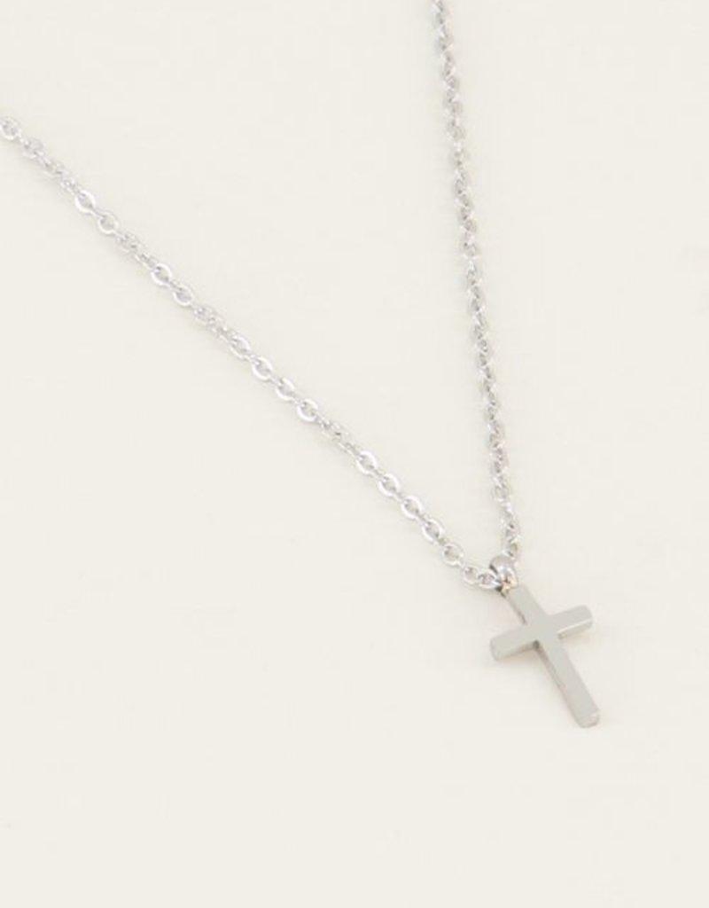 My Jewellery Ketting klein kruisje Zilver ONESIZE