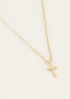My Jewellery Ketting klein kruisje Goud ONESIZE