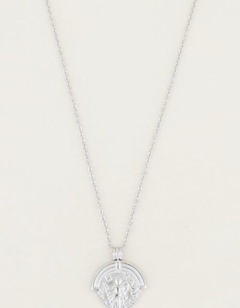 My Jewellery Ketting klassieke munt Zilver ONESIZE