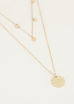 My Jewellery Dubbele ketting muntjes Goud ONESIZE